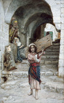 The Youth of Jesus, illustration for 'The Life of Christ', c.1886-94 Canvas Print