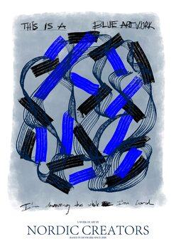 Canvas Print This is a blue artwork