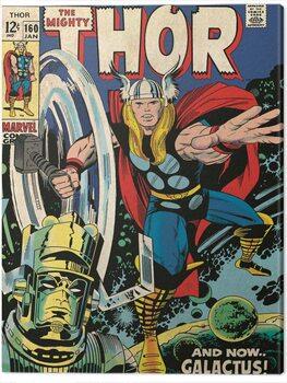 Canvas Print Thor - Galactus