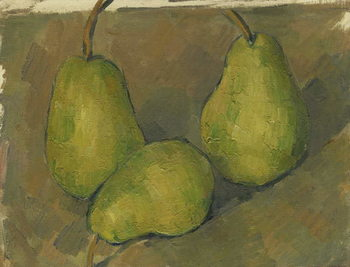 Canvas Print Three Pears, 1878-9