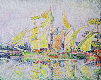 Three Yellow Masts, 1931 Canvas Print
