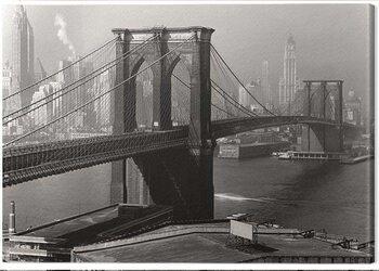 Canvas Print Time Life - Brooklyn Bridge, New York 1946
