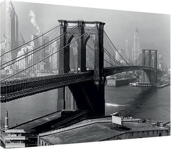 Time Life - Brooklyn Bridge, New York 1946 Canvas Print