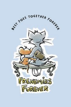 Canvas Print Tom and Jerry - Frenemies Forever