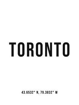 Canvas Print Toronto simple coordinates
