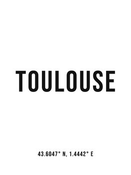 Canvas Print Toulouse simple coordinates