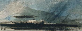 Town at Dusk Canvas Print