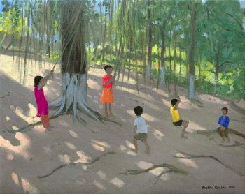 Tree Swing, Elephant Island, Bombay, 2000 Canvas Print