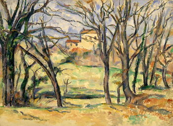 Canvas Print Trees and Houses Near the Jas de Bouffan