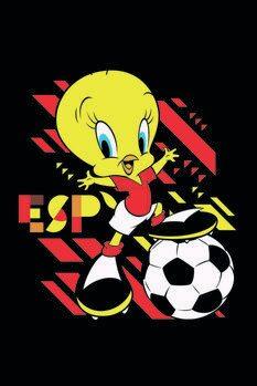 Canvas Print Tweety and football