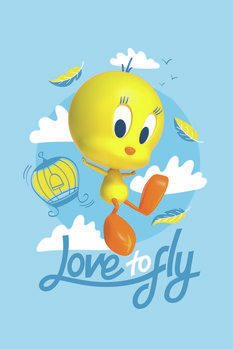 Canvas Print Tweety - Love to fly