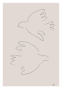 Canvas Print Two Doves