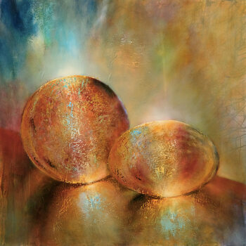 Canvas Print Two marbles