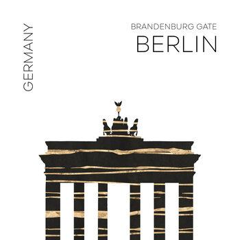 Canvas Print Urban Art BERLIN Brandenburg Gate