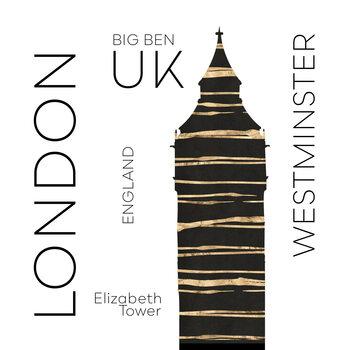 Canvas Print Urban Art LONDON Big Ben