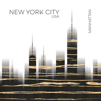 Canvas Print Urban Art NYC Skyline