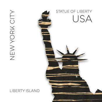 Canvas Print Urban Art NYC Statue of Liberty