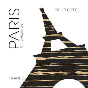 Canvas Print Urban Art PARIS Eiffel Tower