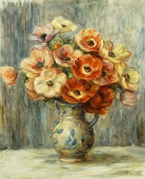 Canvas Print Vase d'Anemones,