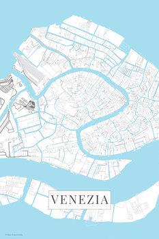Canvas Print Venezia white