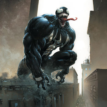 Venom - Stalking Its Prey Canvas Print