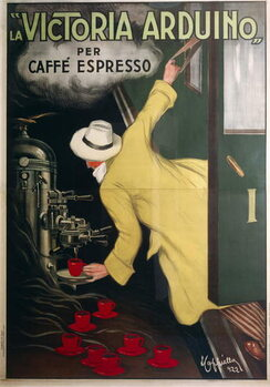 Victoria Arduino espresso coffee machine, by Leonetto Cappiello , illustration, 1922. Canvas Print