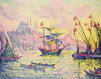 View of Constantinople, 1907 Canvas Print