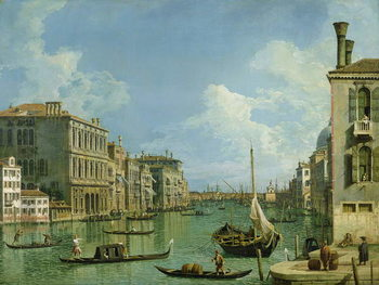 View of the Grand Canal Canvas Print