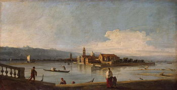 View of the Isles of San Michele, San Cristoforo and Murano, from the Fondamenta Nuove, c.1725-28 Canvas Print