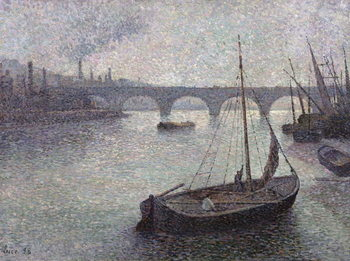 View of the Thames, 1893 Canvas Print