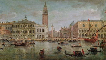 View of Venice, 1719 Canvas Print