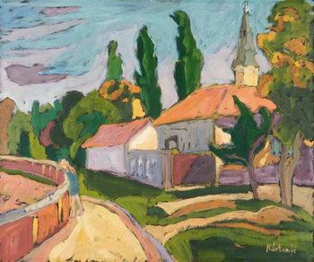 Village Mood, 2008 Canvas Print