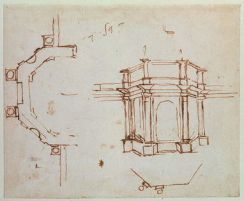 W.24r Architectural sketch Canvas Print