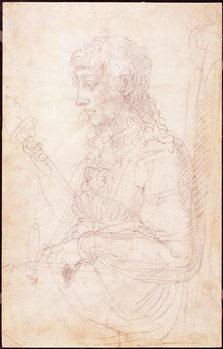 W.40 Sketch of a female figure Canvas Print