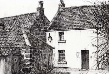 W.M.Barrie's birthplace, 2007, Canvas Print