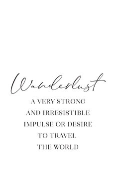 Wanderlust definition in scandinavian style Canvas Print