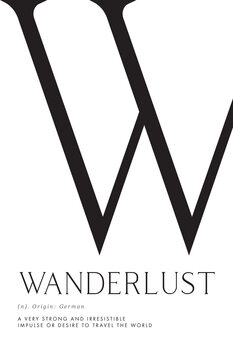 Canvas Print Wanderlust definition typography art