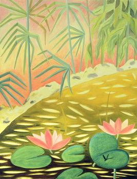 Water Lily Pond I, 1994 Canvas Print