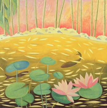 Water Lily Pond III, 1994 Canvas Print
