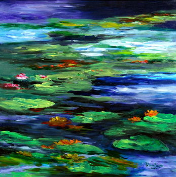 Canvas Print Water Lily Somnolence, 2010
