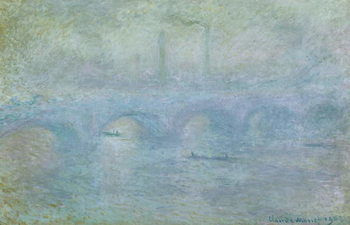 Waterloo Bridge, Effect of Fog, 1903 Canvas Print