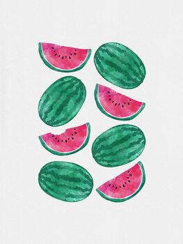 Canvas Print Watermelon Crowd