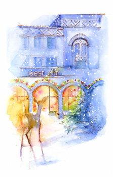 West Elm at Christmas, 2016, Canvas Print