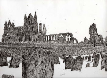Whitby Abbey, 2007, Canvas Print
