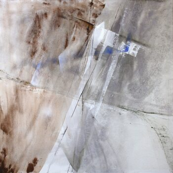 Canvas Print white composition with a little bit blue