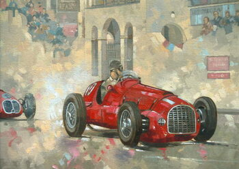 Whitehead's Ferrari passing the pavillion, Jersey Canvas Print