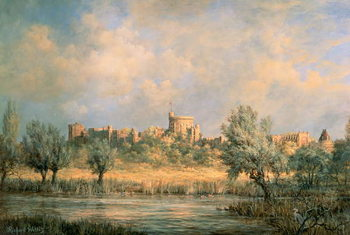 Windsor Castle: from the River Thames Canvas Print