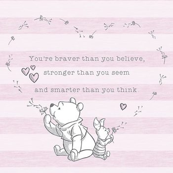 Winnie The Pooh - Believe Canvas Print