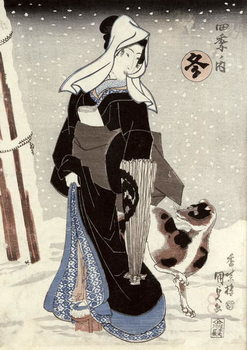 Winter, from the series 'Shiki no uchi' (The Four Seasons) Canvas Print
