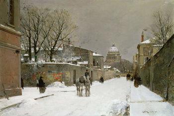 Winter Scene near Les Invalides, Paris Canvas Print